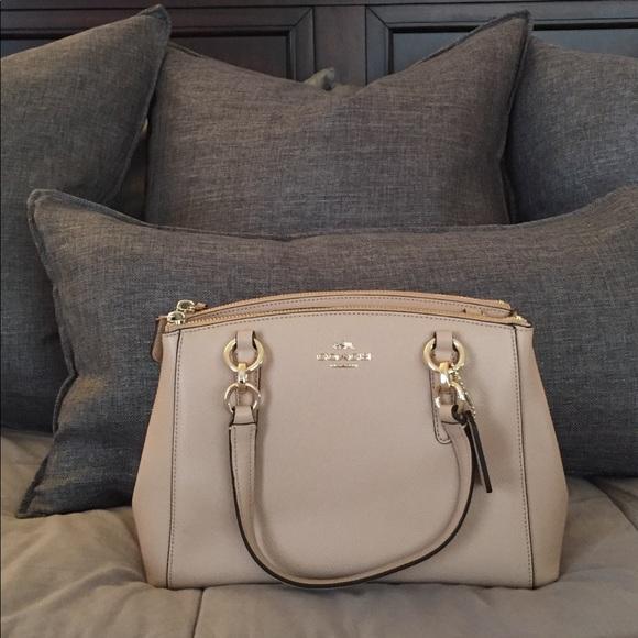 fe428920a7b2 Coach Dual Pocket Beige Crossbody Bag